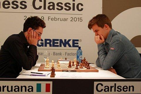 Caruana no puso en aprietos a Magnus Carlsen