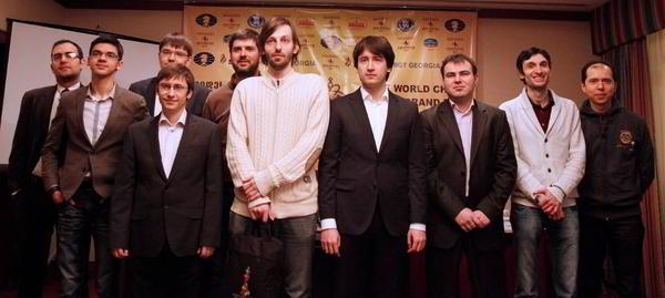 Los participantes del Gran Prix FIDE en Tbilisi