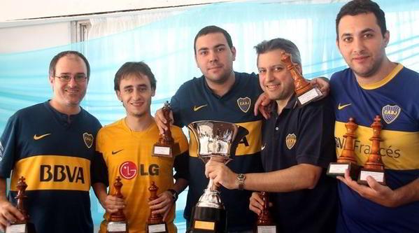 Alonso, Krysa, Paveto, Seminara y Mela, el equipo de Boca Juniors ganador de la edición 2015