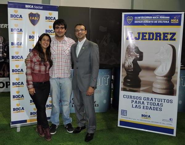 Elisa Maggiolo, Federico Perez Ponsa y Marcelo Hermida