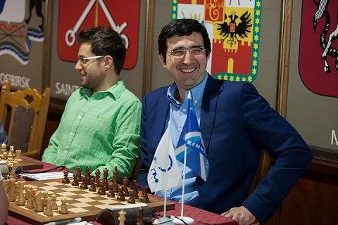 Vladimir Kramnik y Levon Aronian
