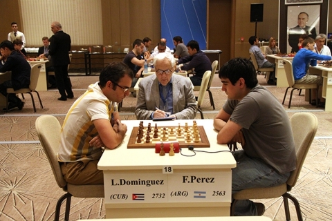 Federico Perez Ponsa batalló duro ante el cubano Lenier Dominguez