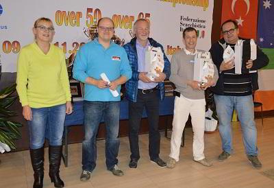 Ganadores del 2do blitz, y entre ellos, el MI argentino Guillermo Llanos (2do puesto)