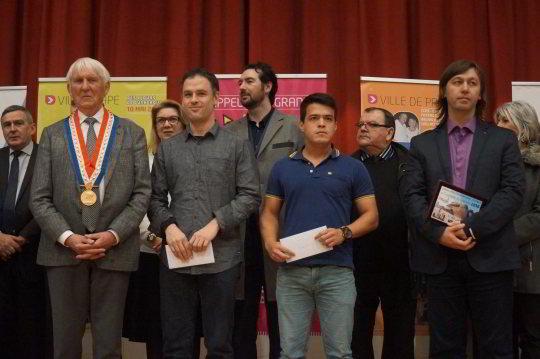 Los tres vencedores: Christian Bauer, Eduardo Iturrizaga y Gata Kamsky