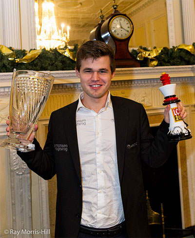 El Campeón del Mundo Magnus Carlsen, ganador del Grand Chess Tour 2015 (Foto: Ray Morris-Hill)