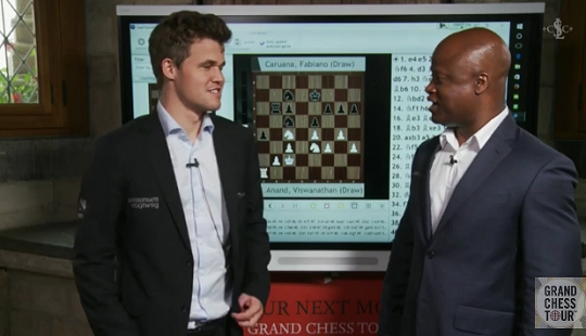 Magnus Carlsen, entrevistado por Maurice Ashley