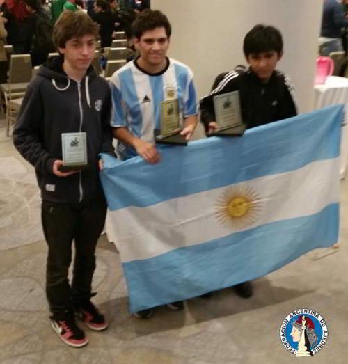Falcon, Villegas y Vilca consiguieron medallas para Argentina
