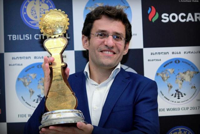 Levon Aronian, ganador de la Copa del Mundo FIDE 2017