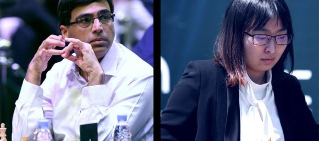 Vishy Anand y Ju Wenjun, campeones del mundo de ajedrez rápido 2017