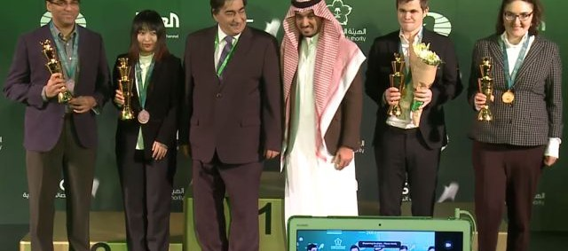 Carlsen y Dzagnidze, campeones mundiales de ajedrez relámpago