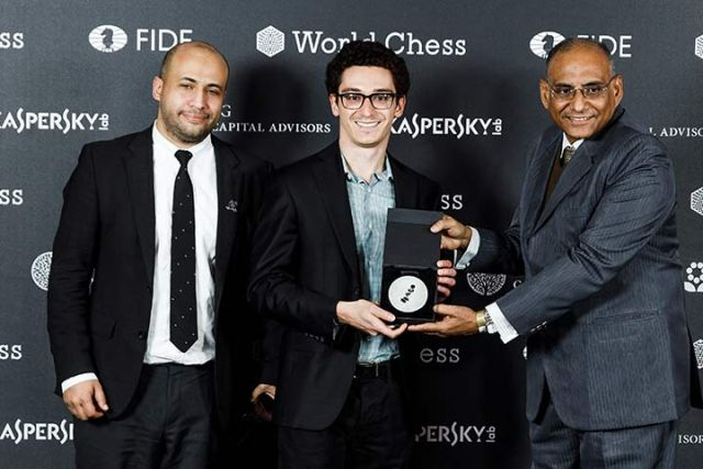 Fabiano Caruana, ganador del Torneo de Candidatos 2018